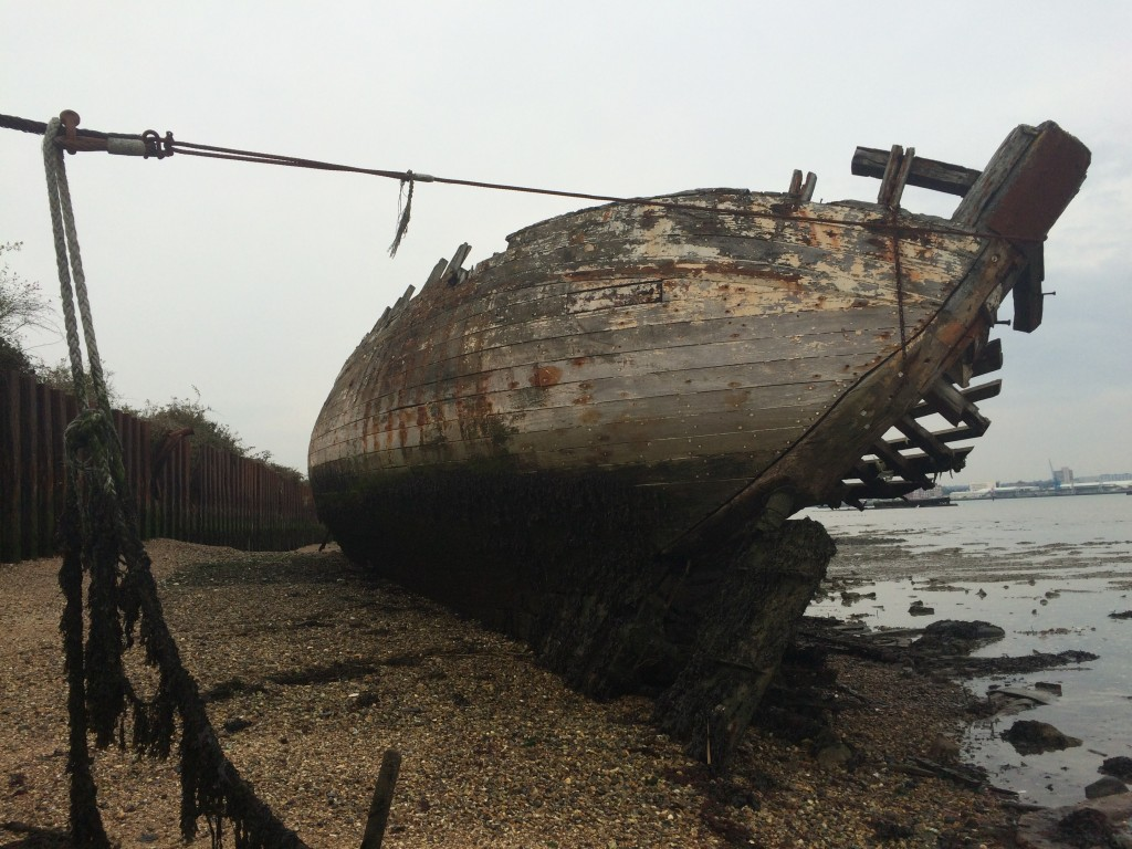 Abandoned Ships at Hythe, UK - Fulbright Study Abroad and Travel